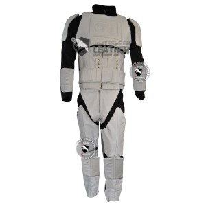 Star Wars Stormtrooper Motorcycle Real Leather Suit / Stormtrooper costume suit